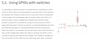GPIOs with switches connection