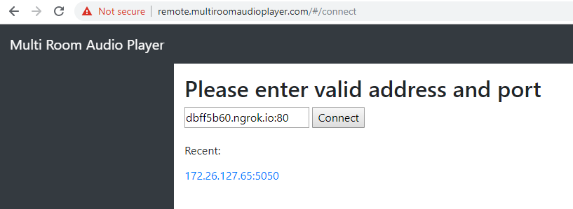 How to expose a local audio server to the Internet - Multi