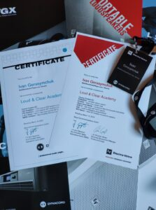 Loud & Clear Academy certificates